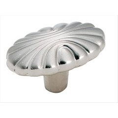Natural Elegance 1-9/16 Inch Diameter Sterling Nickel Cabinet Knob