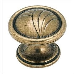 True Elegance Knob 1-1/4 inch Diameter Burnished Brass