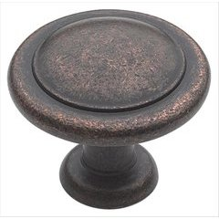 Reflections 1-1/4 Inch Diameter Rustic Bronze Cabinet Knob