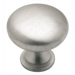 Allison Value Hardware 1-1/4 Inch Diameter Brushed Chrome Cabinet Knob <small>(#BP191026D)</small>