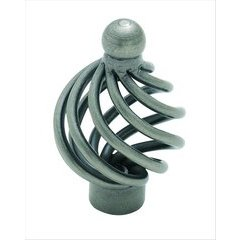 Village Classics 1-5/16 Inch Diameter Weathered Nickel Cabinet Knob