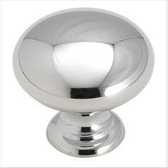 Brass Classics 1 Inch Diameter Polished Chrome Cabinet Knob