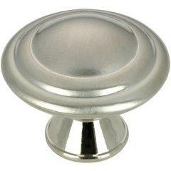 Contemporary 1-3/16 Inch Diameter Knobs with Nickel Finish <small>(#BP20630195)</small>