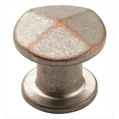 Vasari 1-3/16 Inch Diameter Weathered Nickel Copper Cabinet Knob