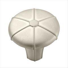Angouri 1-5/16 Inch Diameter Satin Nickel Cabinet Knob