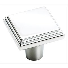 Manor 1 Inch Diameter Polished Chrome Cabinet Knob <small>(#BP2611726)</small>