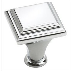 Manor 1 Inch Diameter Polished Chrome Cabinet Knob