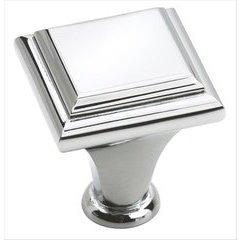 Manor 1 Inch Diameter Polished Chrome Cabinet Knob