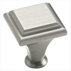 Manor 1 Inch Diameter Satin Nickel Cabinet Knob