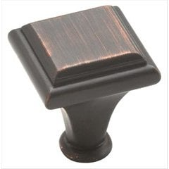 Manor 1 Inch Diameter Oil Rubbed Bronze Cabinet Knob