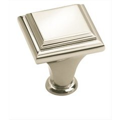 Manor 1 Inch Diameter Polished Nickel Cabinet Knob