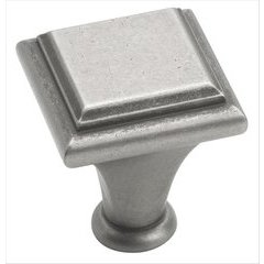 Manor 1 Inch Diameter Weathered Nickel Cabinet Knob