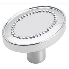 Opulence 1-3/8 Inch Diameter Polished Chrome Cabinet Knob