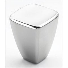 Creased Bow 7/8 Inch Diameter Polished Chrome Cabinet Knob