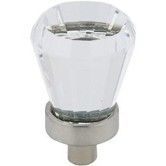 Traditional 3/4 Inch Diameter Knobs with Clear Frosted Nickel Finish <small>(#BP27619511)</small>