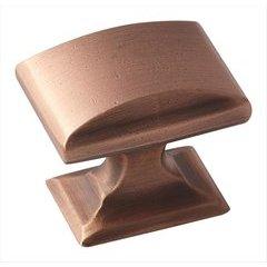 Candler 1-1/4 Inch Diameter Brushed Copper Cabinet Knob