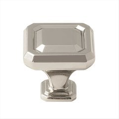 Wells 1-1/4 Inch Diameter Polished Nickel Cabinet Knob
