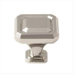 Wells 1-1/4 Inch Diameter Polished Nickel Cabinet Knob