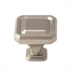Wells 1-1/2 Inch Diameter Satin Nickel Cabinet Knob