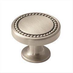 Carolyne 1-3/8 Inch Diameter Satin Nickel Cabinet Knob