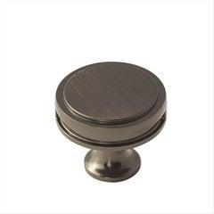 Oberon 1-3/8 Inch Diameter Gunmetal Cabinet Knob