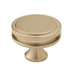 Oberon Knob 1-3/4 inch Diameter Golden Champagne