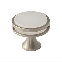 Oberon 1-3/8 Inch Diameter Golden Champagne/Frosted Acrylic Cabinet Knob