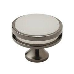 Oberon Knob 1-3/4 inch Diameter Gunmetal/Frosted Acrylic