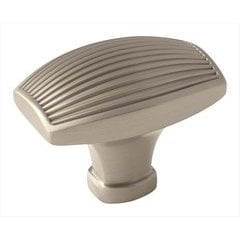 Sea Grass 1-1/2 Inch Diameter Satin Nickel Cabinet Knob