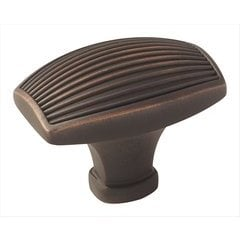 Sea Grass 1-1/2 Inch Diameter Oil Rubbed Bronze Cabinet Knob