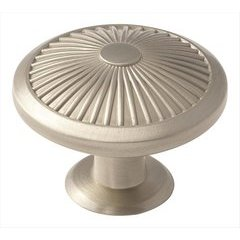 Crawford 1-3/4 Inch Diameter Satin Nickel Cabinet Knob