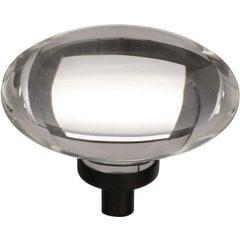 Glacio 1-3/4 Inch Diameter Clear/Black Bronze Cabinet Knob