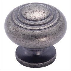 Inspirations 1-3/16 Inch Diameter Weathered Nickel Cabinet Knob <small>(#BP4258WN)</small>
