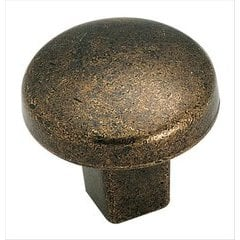Forgings 1-1/4 Inch Diameter Rustic Brass Cabinet Knob
