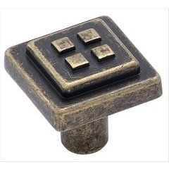 Forgings 1-1/8 Inch Diameter Weathered Brass Cabinet Knob <small>(#BP4454R2)</small>