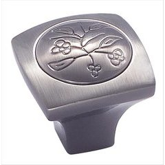 Vineyard 1-1/8 Inch Diameter Pewter Cabinet Knob