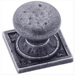 Ambrosia 1-1/4 Inch Diameter Wrought Iron Dark Cabinet Knob