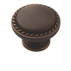 Allison Value Hardware 1-1/8 Inch Diameter Oil Rubbed Bronze Cabinet Knob
