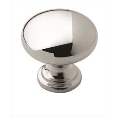 Allison Value Hardware 1-1/4 Inch Diameter Polished Chrome Cabinet Knob <small>(#BP5302326)</small>