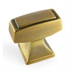 Mulholland 1-1/4 Inch Length Gilded Bronze Cabinet Knob <small>(#BP53029GB)</small>