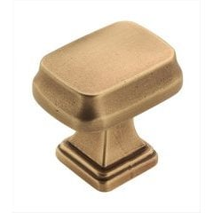 Revitalize 1-1/4 Inch Length Gilded Bronze Cabinet Knob