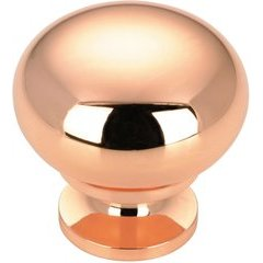 Contemporary 1-1/4 Inch Diameter Knobs with Copper Finish