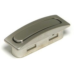 Contemporary 0.75 Inch Length Bar Pulls with Nickel Finish <small>(#BP72117195)</small>