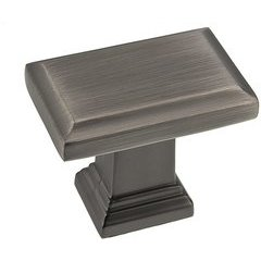Transitional 1.5 Inch Length Knobs with Antique Nickel Finish