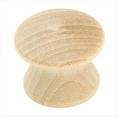 Allison Value Hardware 1 Inch Diameter Unfinished Birch Cabinet Knob <small>(#BP812WD)</small>