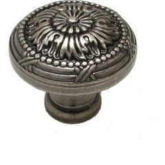 Traditional 1-1/4 Inch Diameter Knobs with Pewter Finish