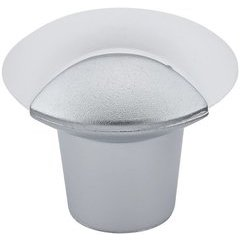 Contemporary 1-5/32 Inch Diameter Knobs with Clear Frosted Finish <small>(#BP83312)</small>