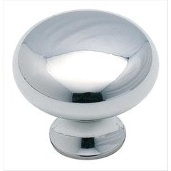 Allison Value Hardware 1-3/16 Inch Diameter Polished Chrome Cabinet Knob