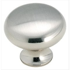 Allison Value Hardware 1-3/16 Inch Diameter Sterling Nickel Cabinet Knob