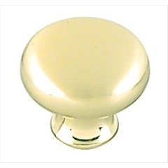 Allison Value Hardware 1-3/16 Inch Diameter Sterling Brass Cabinet Knob <small>(#BP853O74)</small>